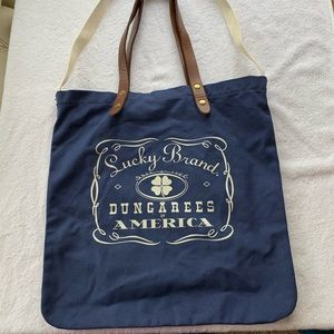 Lucky Brand tote with leather handles